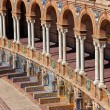 Plaza de Espana Colonnade in Seville — Stock Photo #35589235