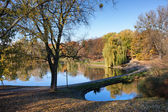 Moczydlo Park in Warsaw — Stock Photo