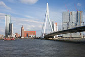 City of Rotterdam Downtown Skyline in Netherlands — Stock Photo
