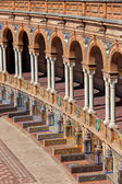 Plaza de Espana Colonnade in Seville — Stock Photo