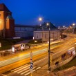 Stock Photo: Street in Warsaw at Night