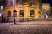 Mostowa Street at Night in Warsaw — Stock Photo
