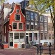Dutch Style Traditional Houses in Amsterdam — Stock Photo #38235649