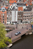 City of Amsterdam Cityscape from Above — Stock Photo