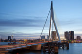 City Centre of Rotterdam in the Evening — Stock Photo