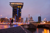 Rotterdam Cityscape in the Evening — Stock Photo