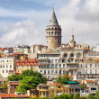 Istanbul Cityscape and Galata Tower — Stock Photo