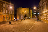 Old Warsaw at Night in Poland — Stock Photo