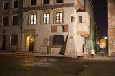 Old Town Houses in Warsaw at Night — Stockfoto