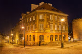 New Town in Warsaw at Night — Foto Stock