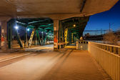 Bridge Tram Stop at Night — Stock Photo