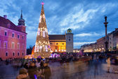 Christmas Time in Warsaw — Stock Photo