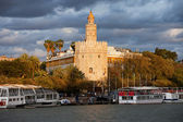 Gold Tower of Seville at Sunset — Stock Photo