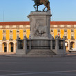 Statue of King Jose I in Lisbon at Sunrise — Stock Photo