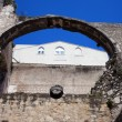 Arch in Ruins of Carmo Convent in Lisbon — Stock Photo #46020857