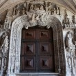 Portal to the Church of Jeronimos Monastery in Lisbon — Stock Photo #46021379