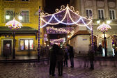 Christmas Illumination in the Old Town of Warsaw — Stockfoto