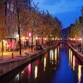 Quartiere a luci rosse di amsterdam — Foto Stock