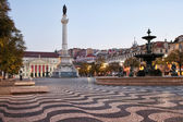 Rossio Square in the Morning — Stock Photo