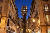 лифт санта хуста ночью — Стоковое фото