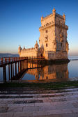 Sunrise at Belem Tower in Lisbon — Stock Photo