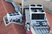 Air Conditioning Systems on a Building Roof — Stock Photo
