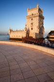 Belem Tower on the Tagus river in Lisbon — Stock Photo