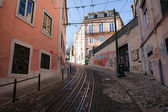 Calcada da Gloria Street in Lisbon — Stock Photo