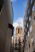 Historic and Modern Architecture in Barcelona — Stock Photo