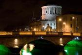 City of Dublin at Night in Ireland — Stock Photo