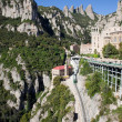 Montserrat Mountains Rack Railway in Catalonia — Stock Photo #50726795
