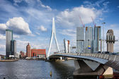 City of Rotterdam Skyline in Netherlands — Stock Photo