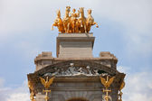 Quadriga de l'Aurora in Park Ciutadella in Barcelona — Stock Photo