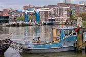 Paisagem urbana de cidade de Roterdão — Fotografia Stock