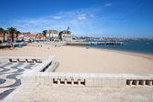Beach and Promenade in Cascais in Portugal — Stock Photo