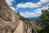 Footpath in the Montserrat Mountains — Stock Photo