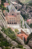 Montserrat Monastery from Above — Stockfoto