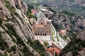 Montserrat Monastery from Above — Stock Photo