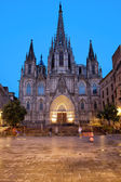Barcelona Cathedral in the Evening — Stock Photo