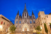 Barcelona Cathedral at Night — Stockfoto