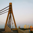 Moscow Bridge At Morning, Kiev, Ukraine - Stock Photo