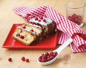 Cranerry cake — Stock Photo