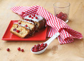Baking with cranberries — Stock Photo
