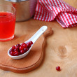 Fresh drink from a cranberry. — Stock Photo #19423665