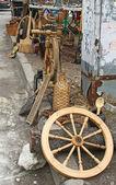 Sale of vintage crafts of folk household — Stock Photo