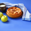 ������, ������: Apple pie and cup with milk