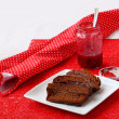 Stock Photo: Vegpastries. Honey-cake with raspberry jam