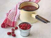 Made of raspberry stewed fruit — Stock Photo