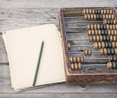 Old scores, pencil and paper — Stock Photo