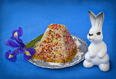 Easter cake of cheese — Photo